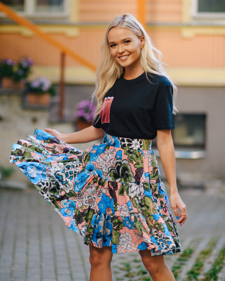 SKIRT FLY FLOWER FRILL