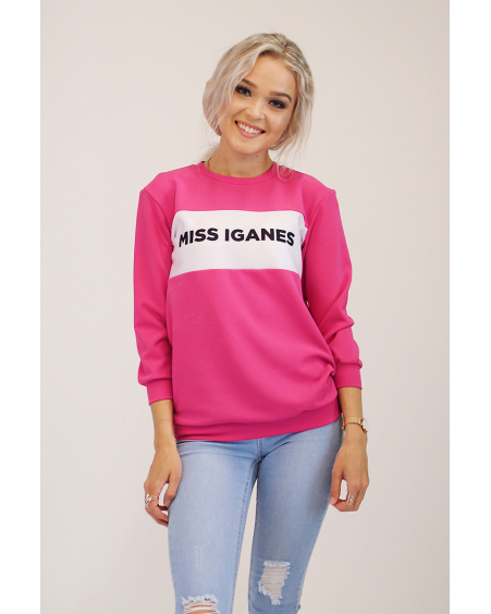 MISS IGANES FUCHSIA QUARTER SWEATER