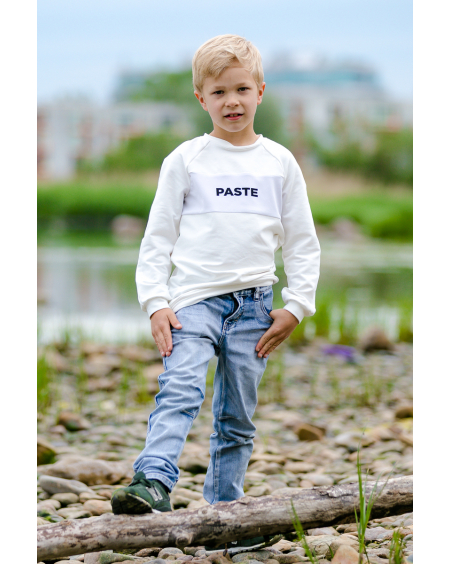 WHITE PASTE KIDS SWEATER