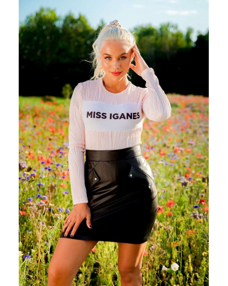 PINK MISS IGANES WAVE SWEATER