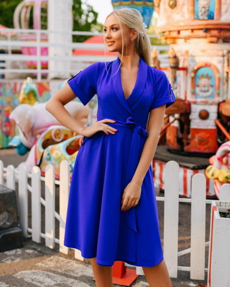 BLUE PEARL MIDI BINDING DRESS