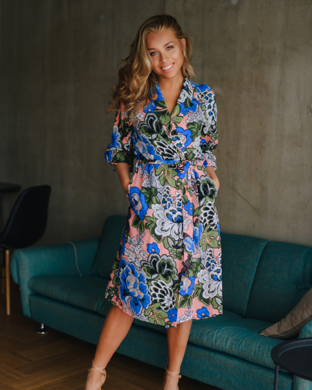 MAGIC FLOWER MIDI DRESS