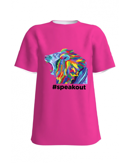 #speakout colorful-pink lion
