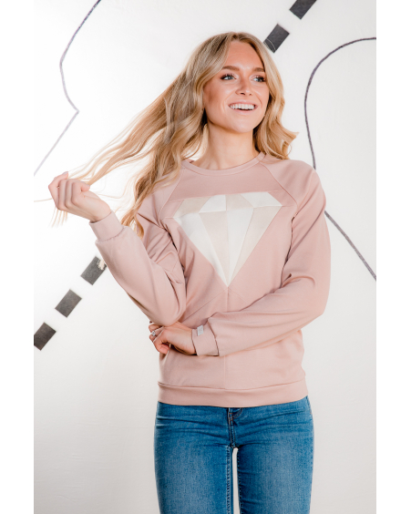 PASTEL PINK DIAMOND SWEATER