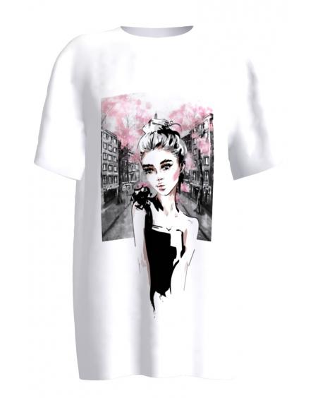 femme fatale white T-shirt