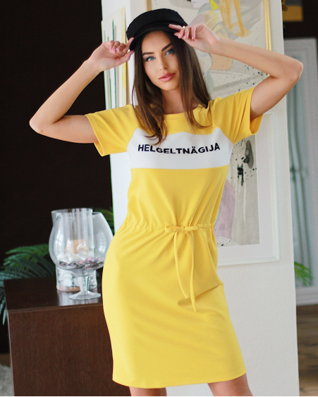 YELLOW HELGELTNÄGIJA JUMPER DRESS