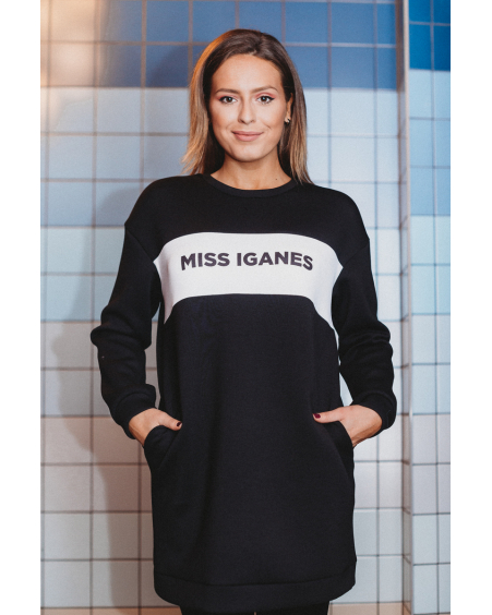 MISS IGANES BLACK OVERSIZE DRESS
