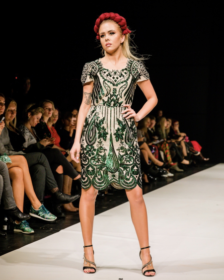 GREEN SEQUIN WONDER DRESS