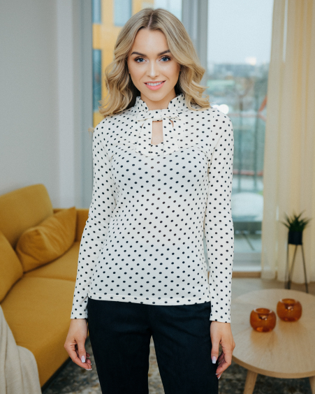 DOLLABLE POLKA DOT SHIRT
