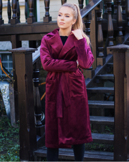 BORDEAUX VELVET DREAMY COAT