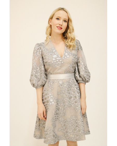 OLIVIA SILVER DRESS