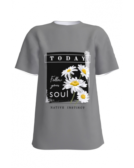 Follow your soul grey t-shirt