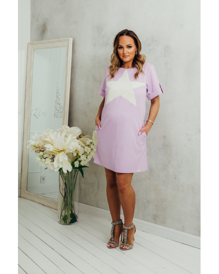 CREM STAR LILAC DRESS