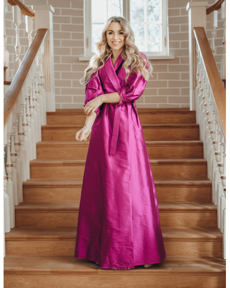 PUPRPLE SILK MAXI DRESS