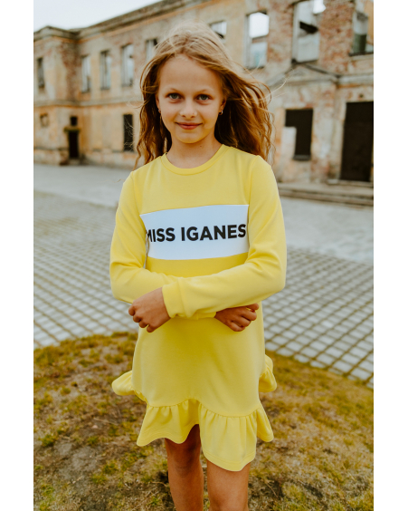 MISS IGANES - YELLOW KIDS DRESS