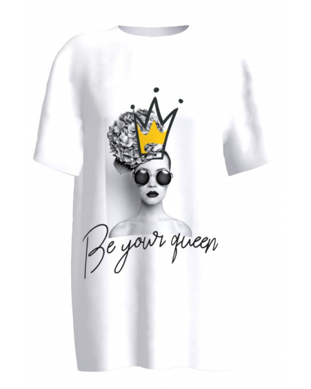 Be your queen white T-shirt