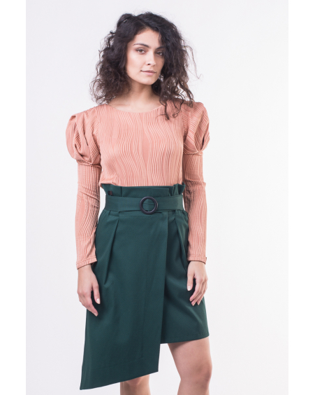 GREEN WRAP BELT SKIRT