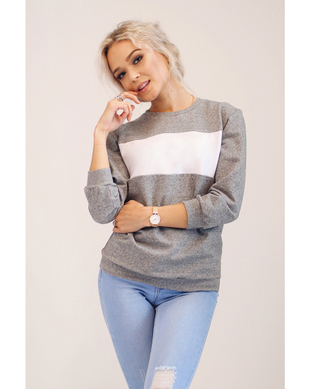CUSTOM SLOGAN - GREY SWEATER