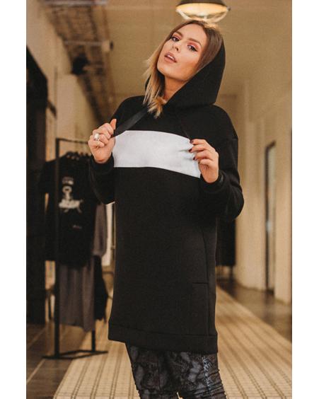 CUSTOM BLACK HOODED DRESS