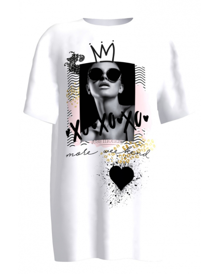 xoxo white T-shirt