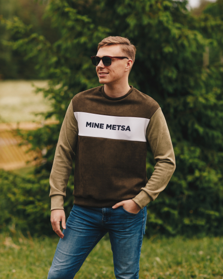 MINE METSA GREEN UNISEX SWEATER FOR HIM