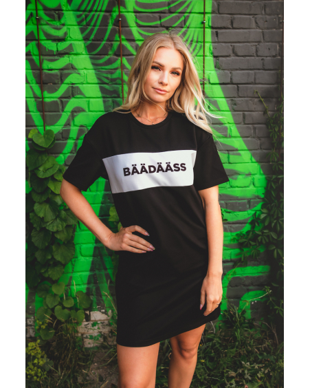 BÄÄDÄÄSS BLACK OVERSIZE MINI DRESS