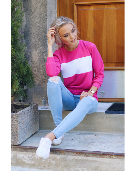 CUSTOM SLOGAN - FUCHSIA SWEATER