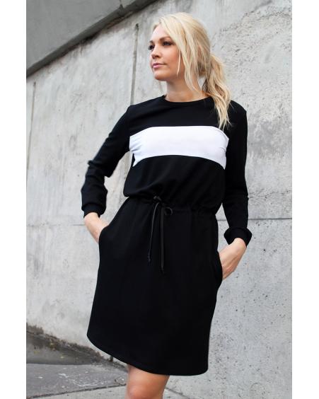 CUSTOM SLOGAN - BLACK JUMPER DRESS