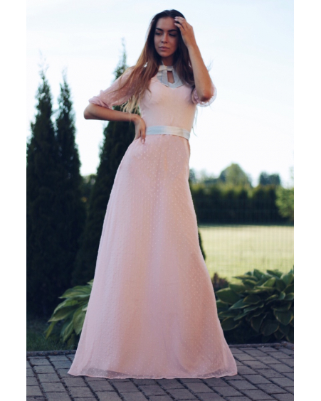 DOLLABLE MAXI CHIFFON DRESS