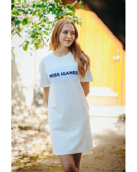 MISS IGANES WHITE OVERSIZE DRESS