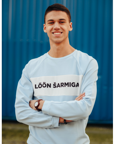 LÖÖN ŠARMIGA BLUE SWEATER