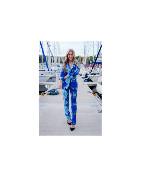 OCEAN BLUE POWER SUIT SET