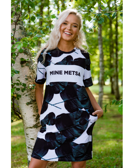MINE METSA LEAFY OVERSIZE DRESS