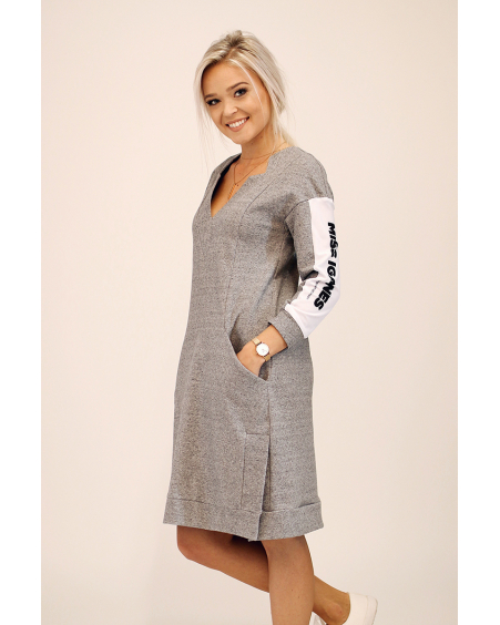 MISS IGANES SIDE GREY COMET DRESS