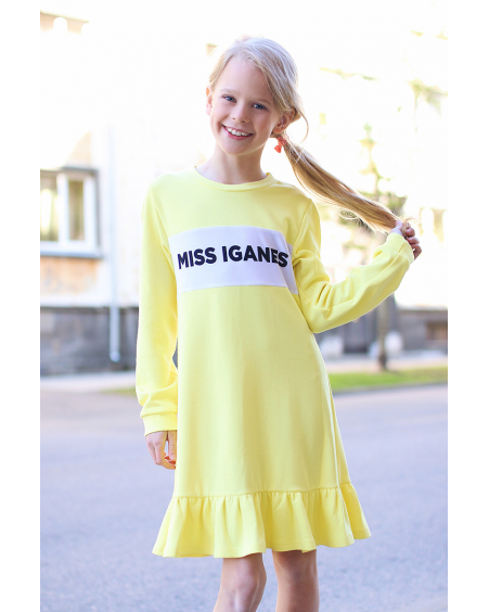 MISS IGANES YELLOW KIDS DRESS
