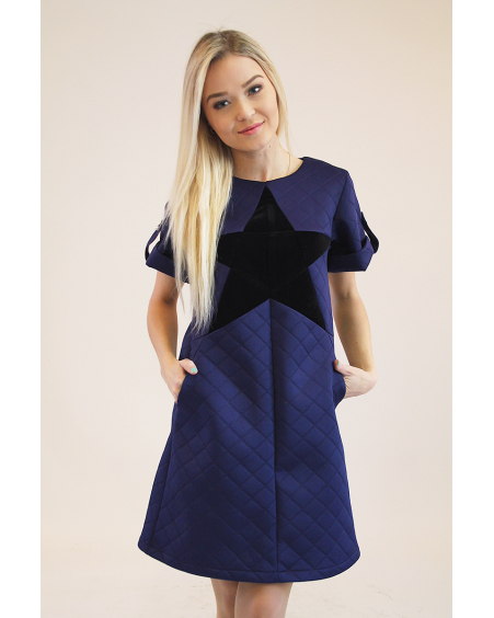 Black star Navy dres