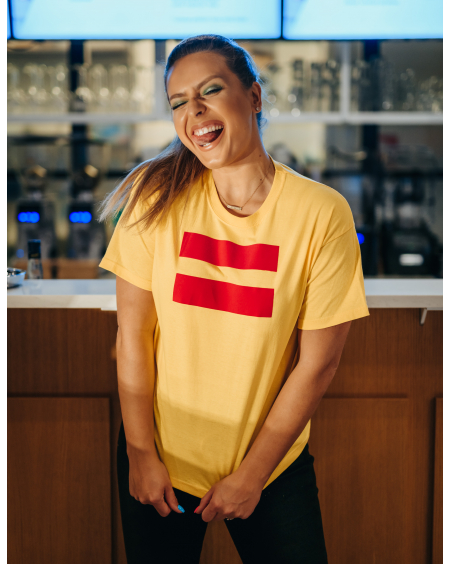 YELLOW UNISEX RED EQUALITY T SHIRT