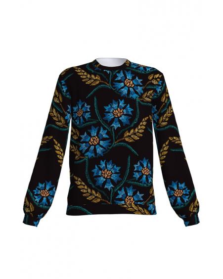 Cornflower print sweatshirt