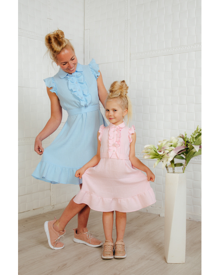 PINK KIDS FRILL DRESS