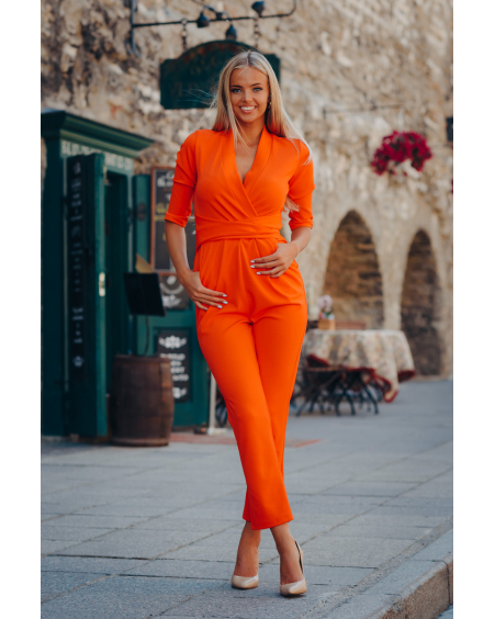 ORANGE ELEGANT JUMPSUIT