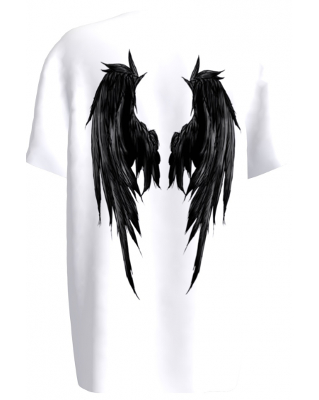 WHITE ANGEL UNISEX PRINT T SHIRT