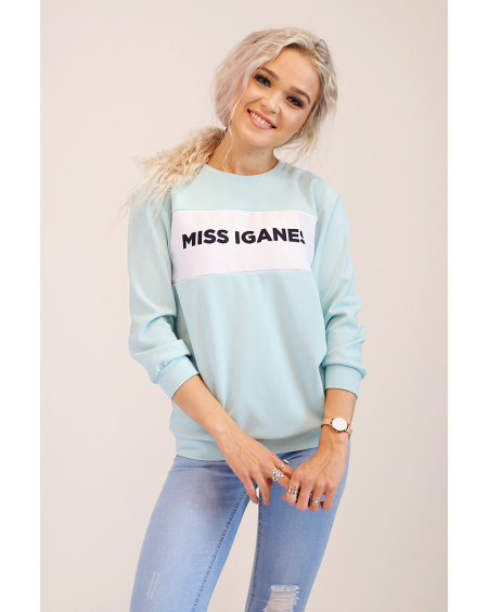 MISS IGANES BLUE QUARTER SWEATER