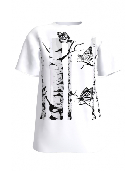 GIANT BUTTERFLIES WHITE T-SHIRT