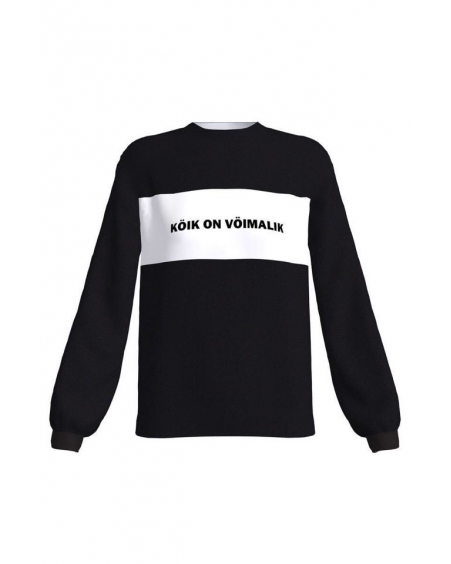 KÖIK ON VÖIMALiK BLACK SWEATER