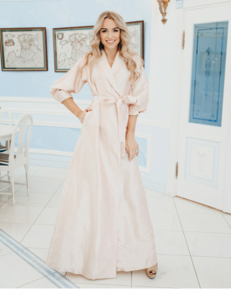 LIGHT PINK SILK MAXI DRESS