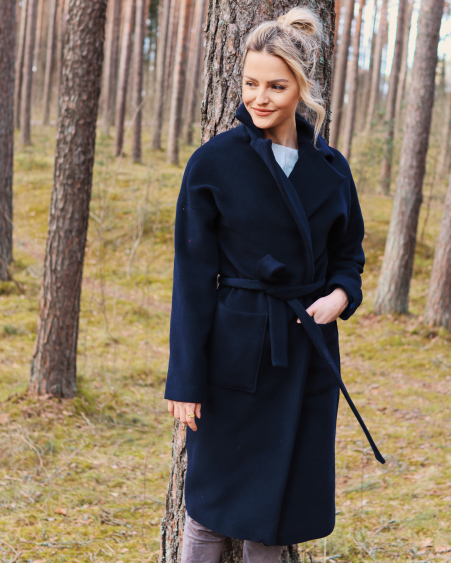 DARK BLUE DREAMY COAT