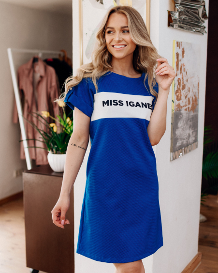 MISS IGANES BLUE PEARL DRESS