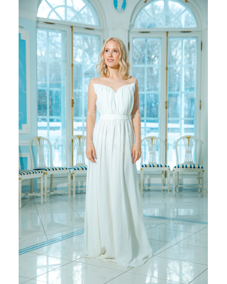 WHITE DREAMY PEARL MAXI DRESS