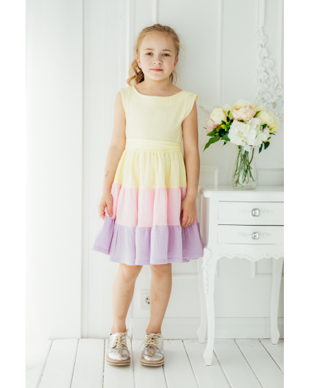 RAINBOW FRILL DRESS KIDS