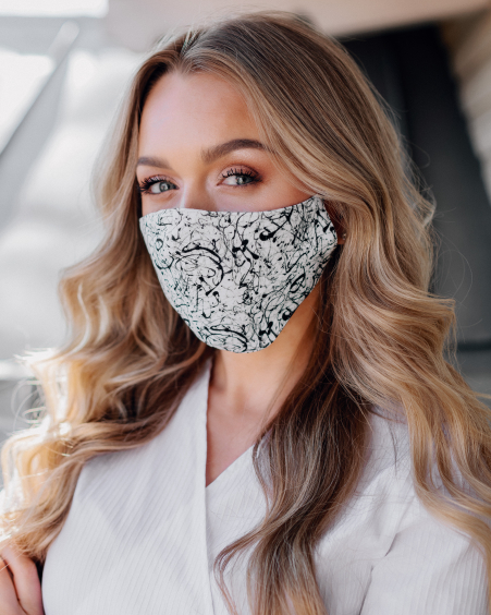 BlACK WHITE MASK: CHOOSE YOUR MASK 3 PIECE IN 1 ORDER
